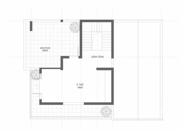 mat bang tang 3 - Thiết kế biệt thự 3 tầng mái thái kinh phí 2 tỷ ở Thanh Hoá