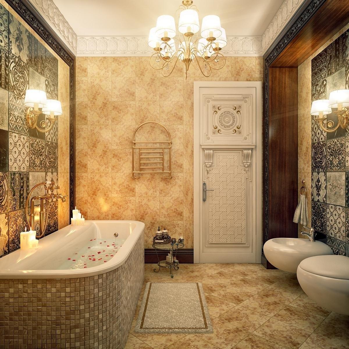 Nội thất phòng tắm cổ điển ấm áp và tinh tế cho chung cư 3 phòng ngủ
