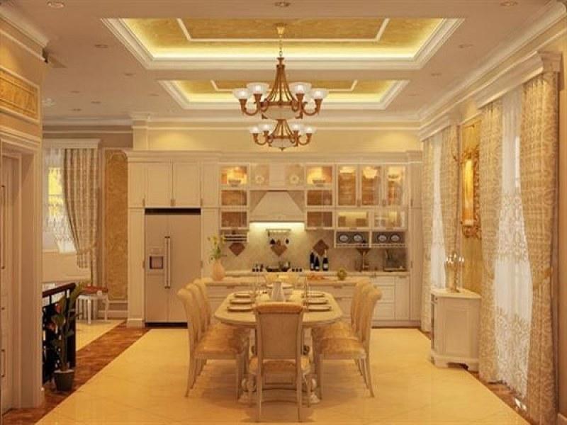 Không gian phòng ăn tân cổ điển sang trọng, ấm áp và ngọt ngào của chung cư 3 phòng ngủ