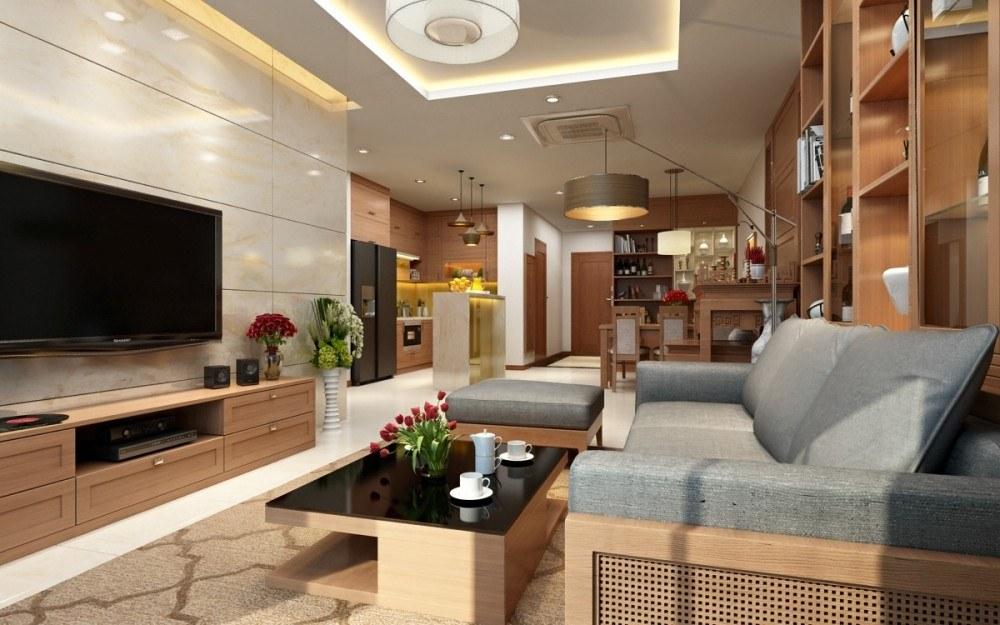Thiết kế nội thất phòng khách hiện đại đang là xu hướng được lựa chọn nhiều nhất cho nhà chung cư