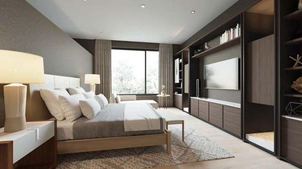 Phòng ngủ hiện đại, đơn giản và tinh tế với gỗ tự nhiên cho chung cư 3 phòng ngủ