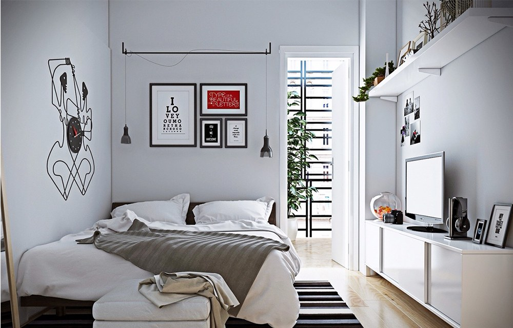 15 kiểu thiết kế nội thất phòng ngủ đẹp cho nhà ống chật hẹp