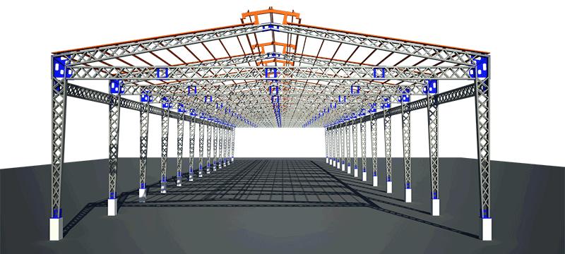 Kết cấu khung cột, kèo nhà xưởng cần được phân bố hợp lý