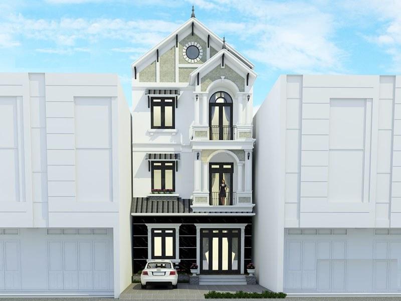 ma nha biet thu 2 ty - Biệt thự phố mini 3 tầng kiến trúc tân cổ điển đẹp