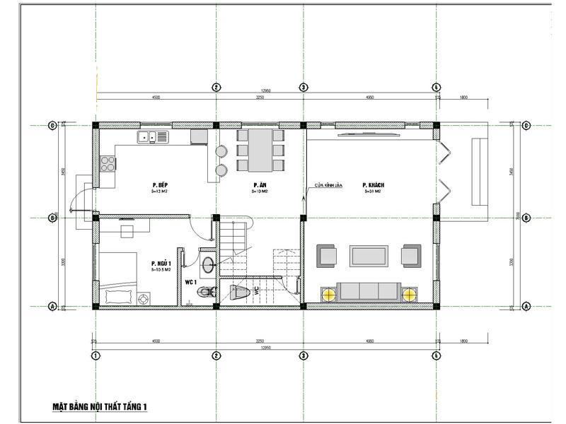 mat bang tang 1 xay biet thu 2 ty - Biệt thự phố mini 3 tầng kiến trúc tân cổ điển đẹp