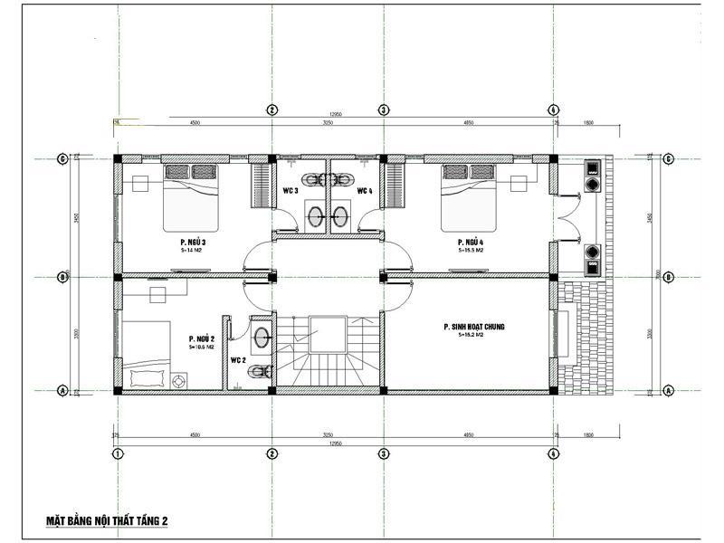 mat bang tang 2 xay biet thu 2 ty - Biệt thự phố mini 3 tầng kiến trúc tân cổ điển đẹp