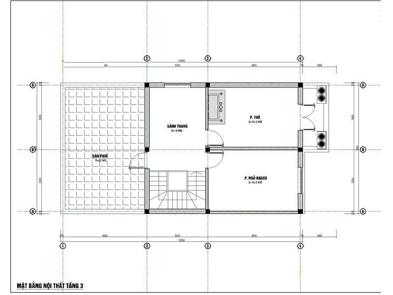 mat bang tang 3 xay biet thu 2 ty - Biệt thự phố mini 3 tầng kiến trúc tân cổ điển đẹp