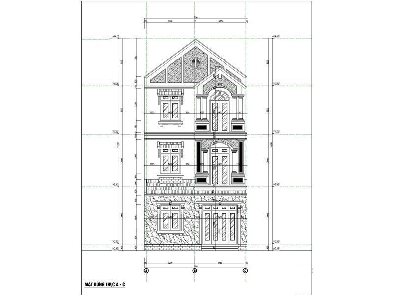 tong the mat dung xay biet thu 2 ty - Biệt thự phố mini 3 tầng kiến trúc tân cổ điển đẹp