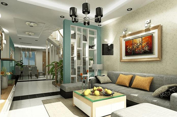 không gian hiện đại của phòng khách