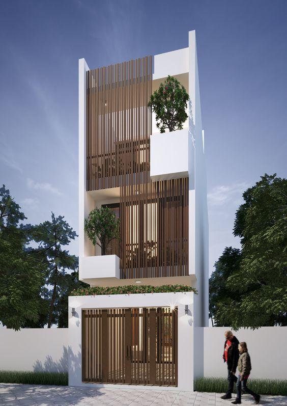 Thiết kế nhà ống 3 tầng 4 phòng ngủ tại Tây Hồ - Hà Nội