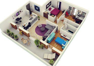 Các mẫu thiết kế nội thất căn hộ 3 phòng ngủ tiện nghi và thỏai mái