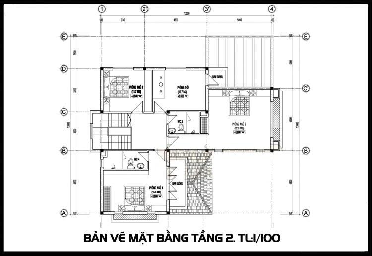 mat-bang-tang-2-mau-nha-biet-thu-2-tang-nong-thon
