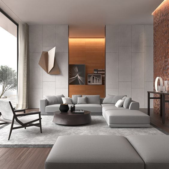 Thiết kế nội thất phòng khách mang phong cách hiện đại, nhẹ nhàng