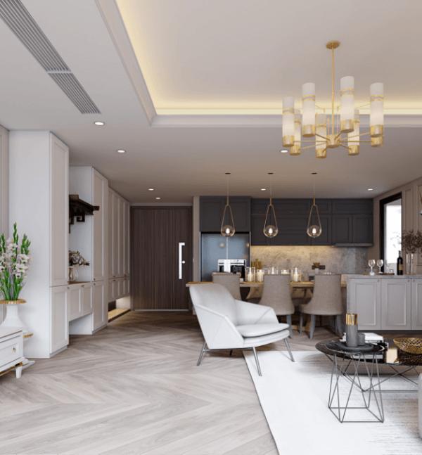 Thi công nội thất căn hộ phong cách hiện đại