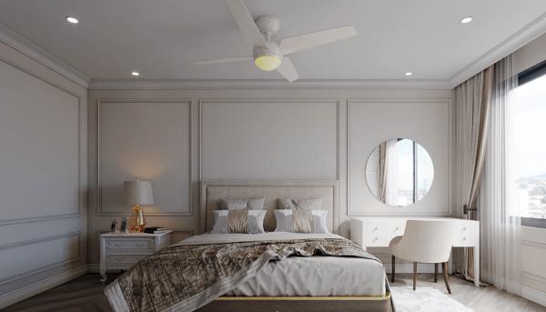 Thi công nội thất phòng ngủ căn hộ phong cách hiện đại