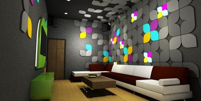 Thi công nội thất karaoke màu sắc