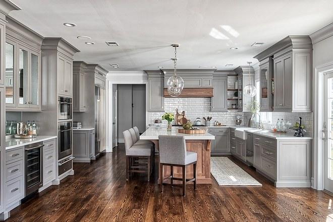 Thi công nội thất phòng bếp phong cách tân cổ điển