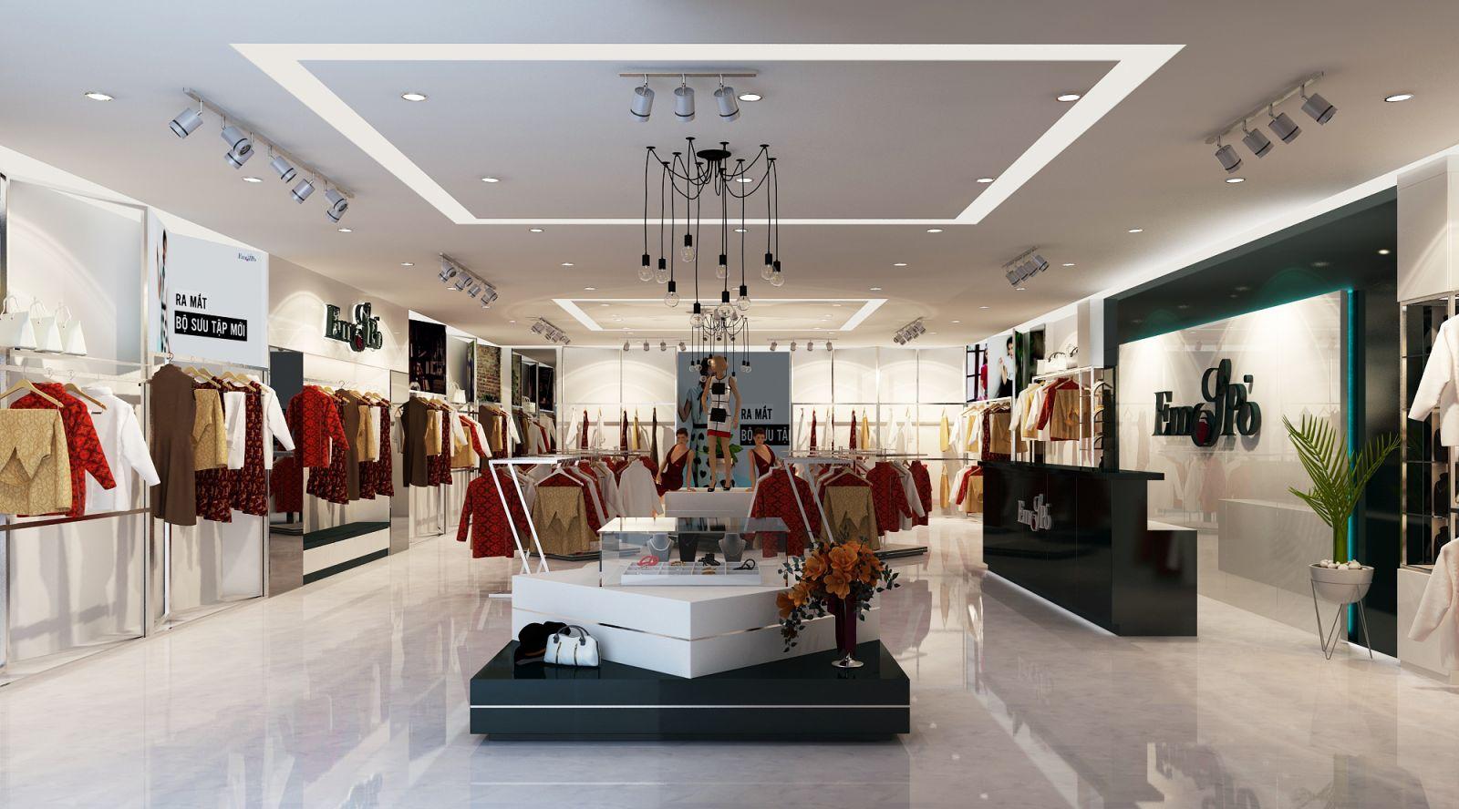 Thi công nội thất showroom quần áo