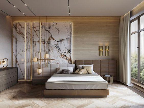 Thiết kế nội thất phòng ngủ căn hộ đơn giản và sang trọng