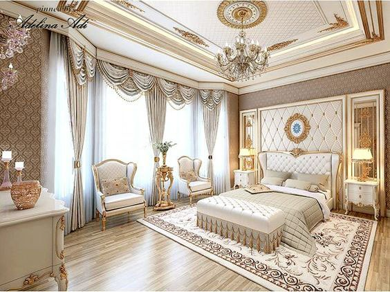 Thiết kế nội thất phòng ngủ căn hộ tân cổ điển