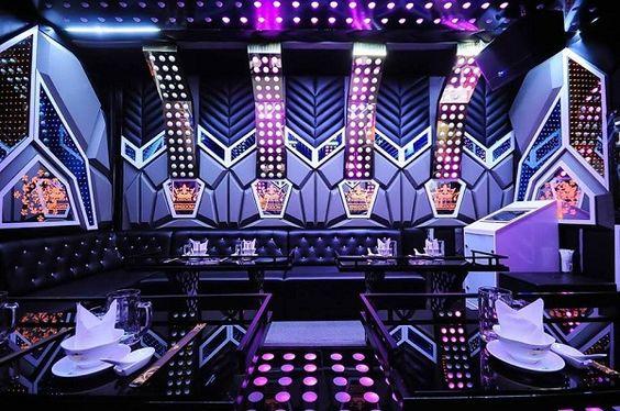 Thiết kế phòng karaoke sử dụng nhiều ánh sáng