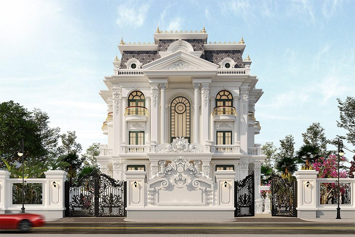 Nức lòng trước mẫu biệt thự tân cổ điển đẹp 3 tầng tại Nam Định