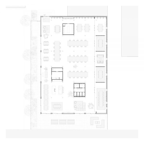 Mặt bằng thiết kế không gian văn phòng