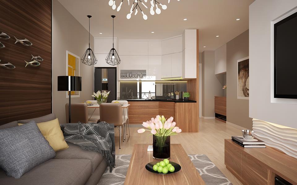 7 ưu điểm thiết kế phòng khách liền bếp giúp không gian sống tiện nghi