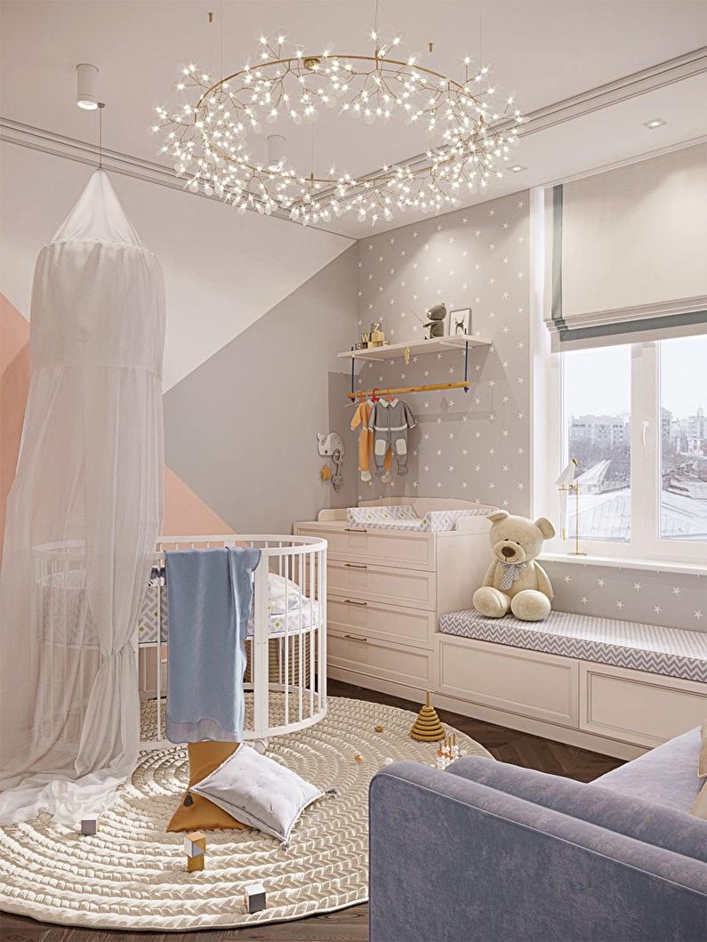 thiết kế nội thất phòng ngủ con gái căn hộ 56m2