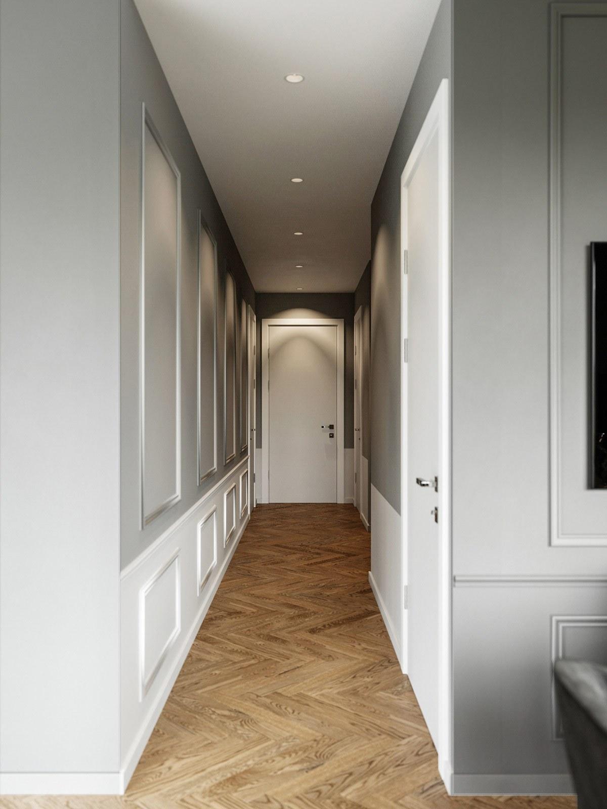 thiết kế nội thất trần đèn căn hộ 69m2