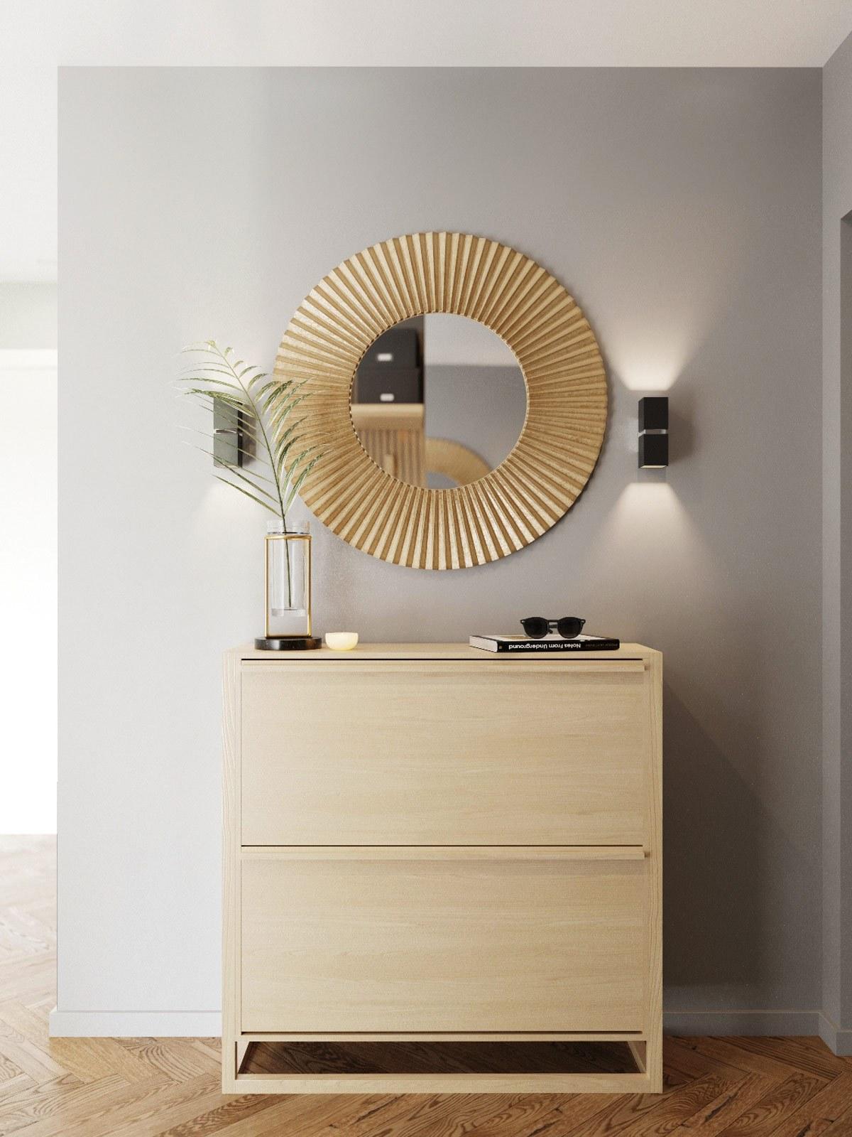 thiết kế nội thất tủ giầy căn hộ 69m2