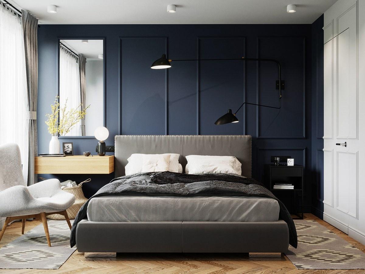 thiết kế nội thất phòng ngủ căn hộ 69m2