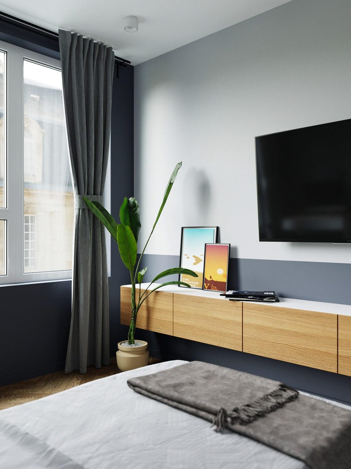 thiết kế nội thất phòng ngủ con trai căn hộ 69m2
