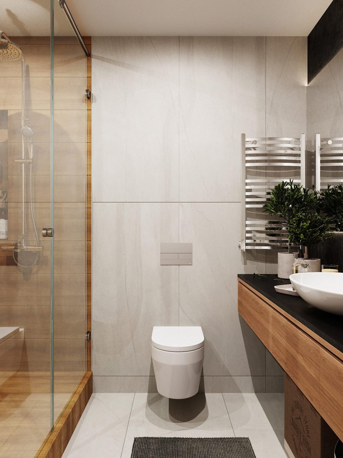 thiết kế nội thất nhà vệ sinh căn hộ 69m2