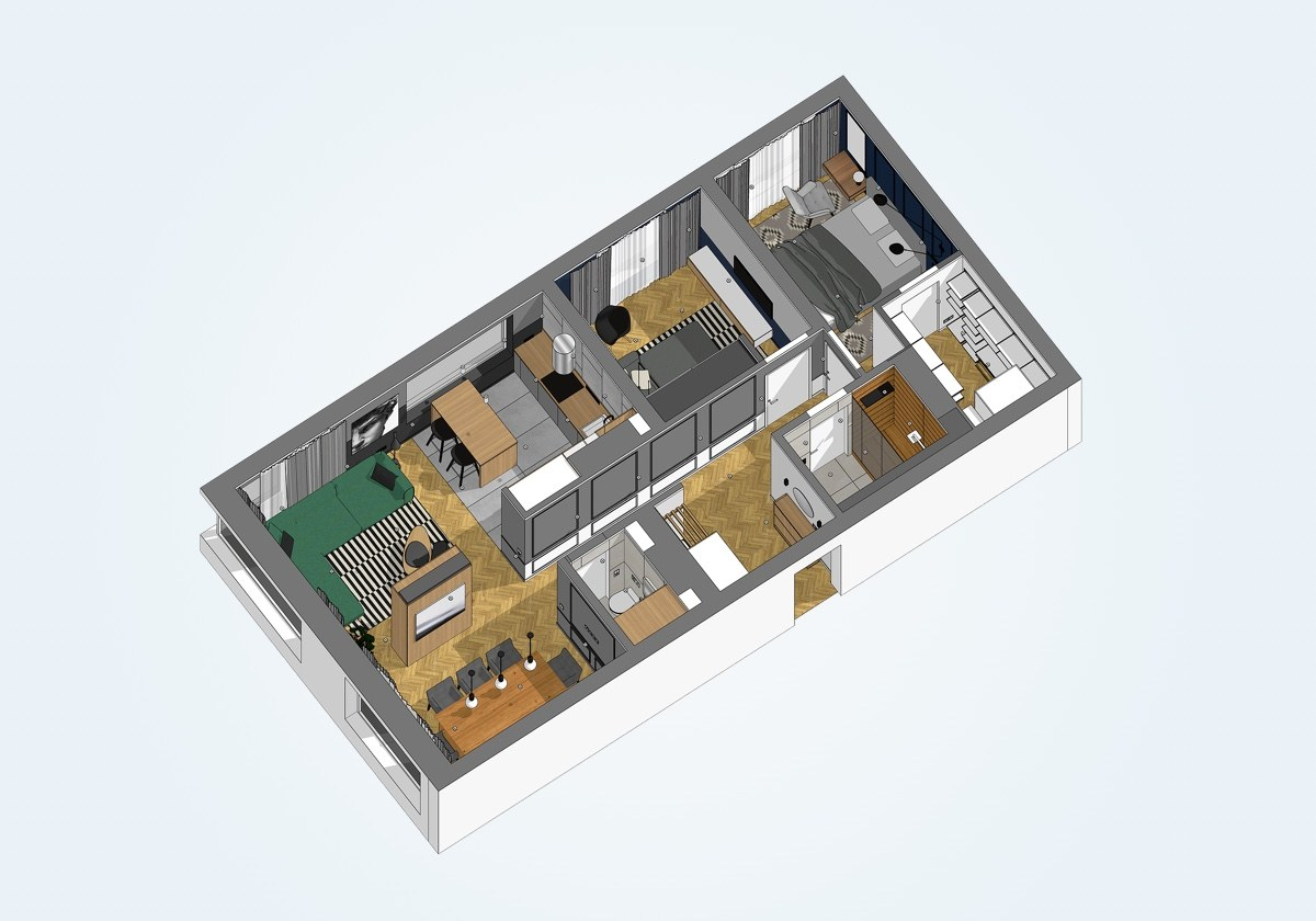mặt bằng nội thất căn hộ 69m2