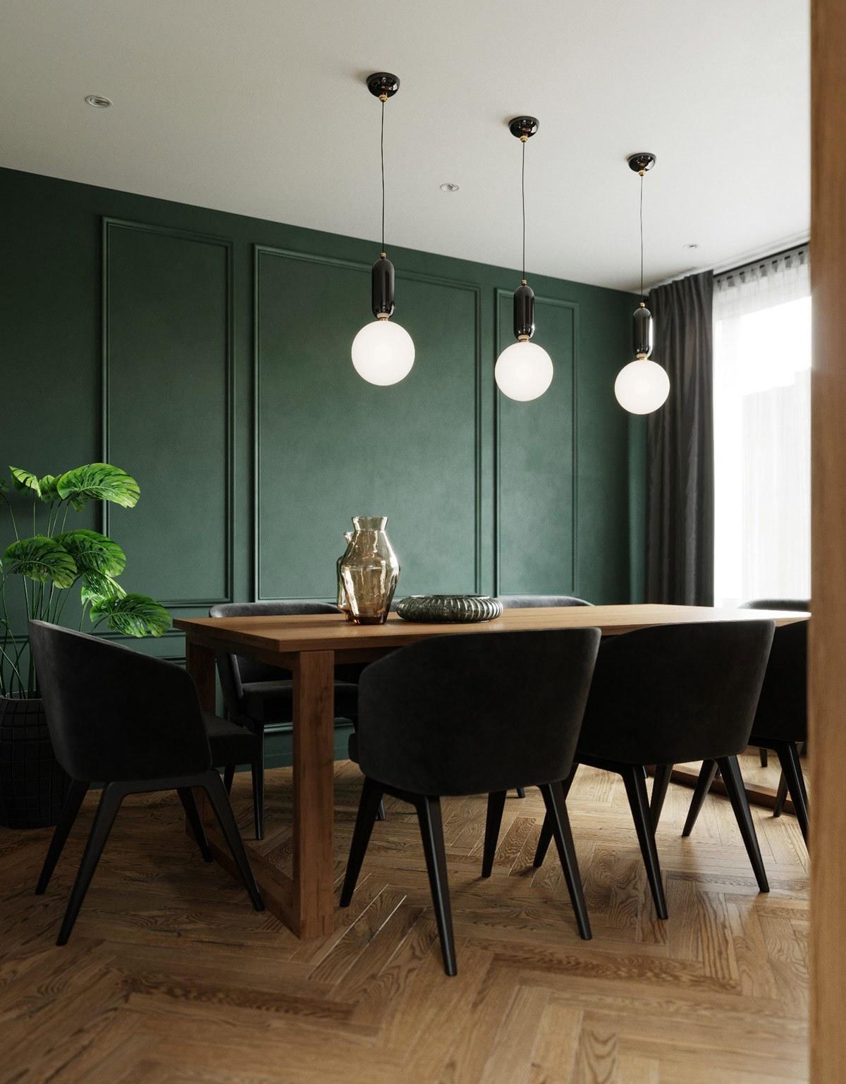 thiết kế nội thất phòng ăn căn hộ 69m2