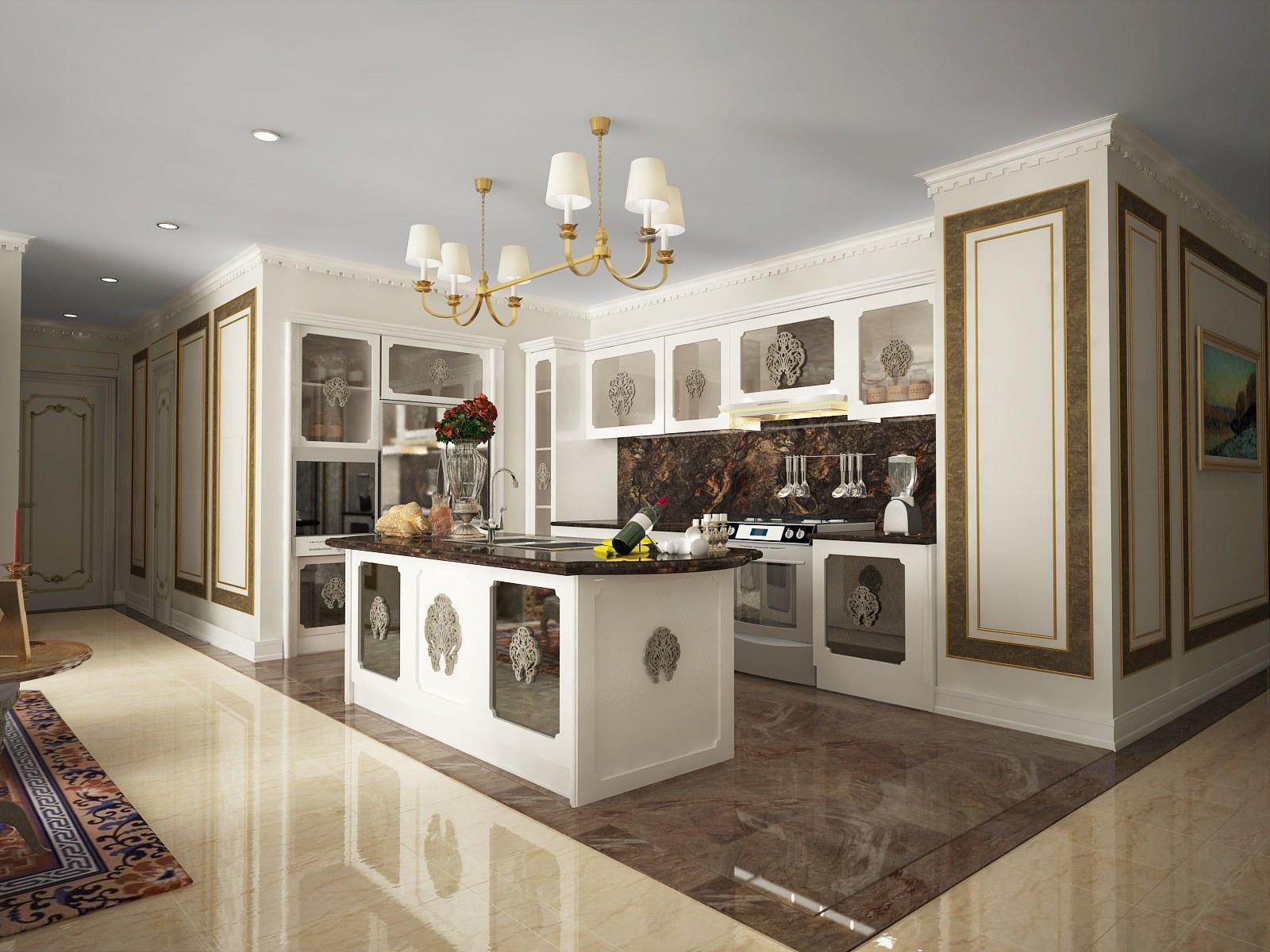 Phòng bếp chung cư đầy đủ công năng và chức năng