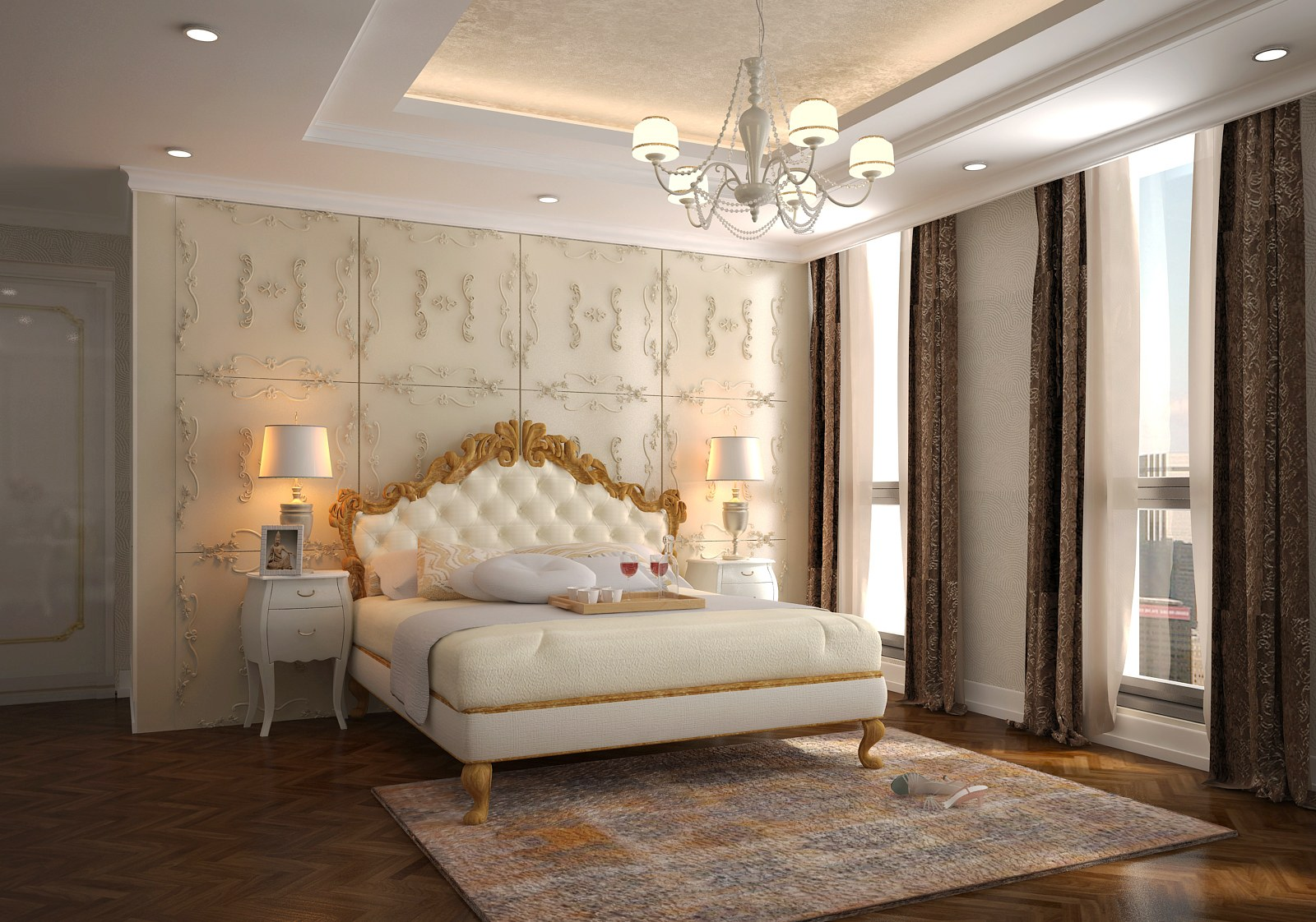 Phòng ngủ chung cư master thoáng rộng và tinh tế