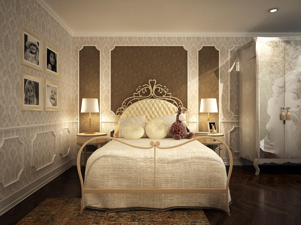 Chiếc giường sắt với họa tiết đẹp mắt