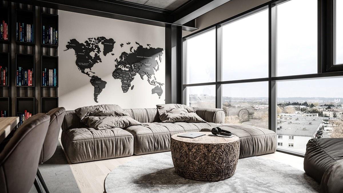 Thiết kế nội thất chung cư phong cách công nghiệp