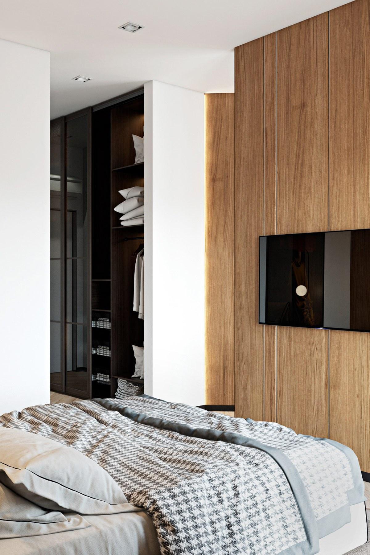 Ga giường màu xám sáng tạo nên sức sống khá mới mẻ