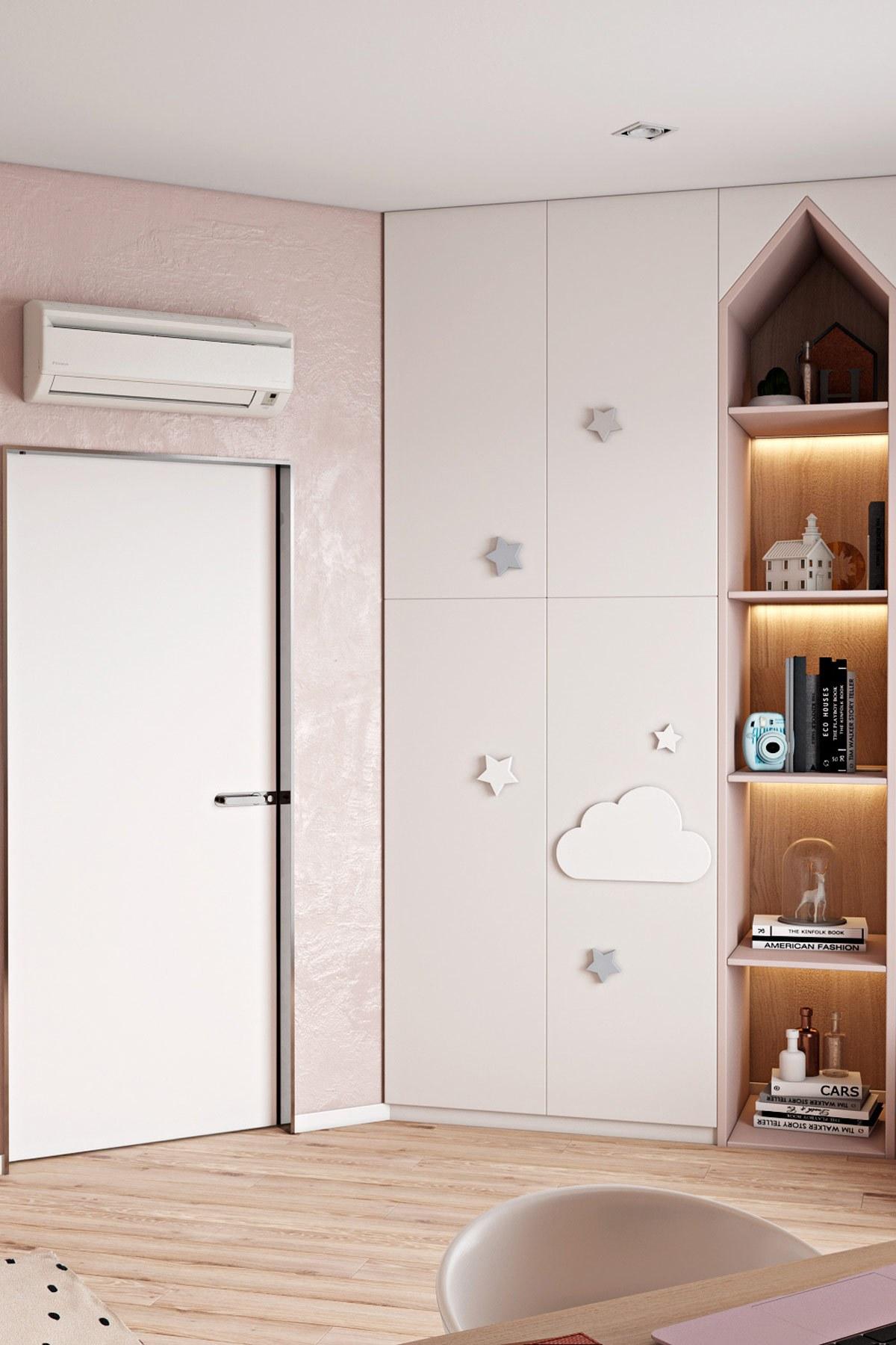 thiết kế nội thất phòng ngủ con gái chung cư hiện đại