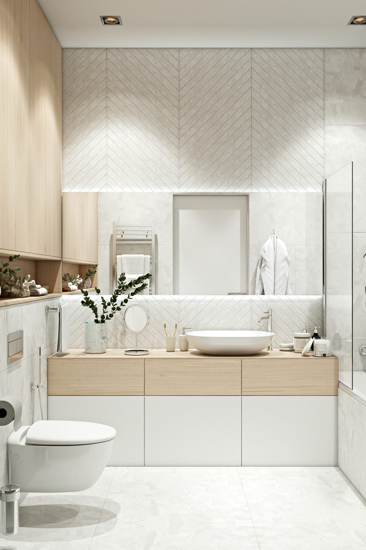 thiết kế nội thất phòng vệ sinh con trai chung cư hiện đại