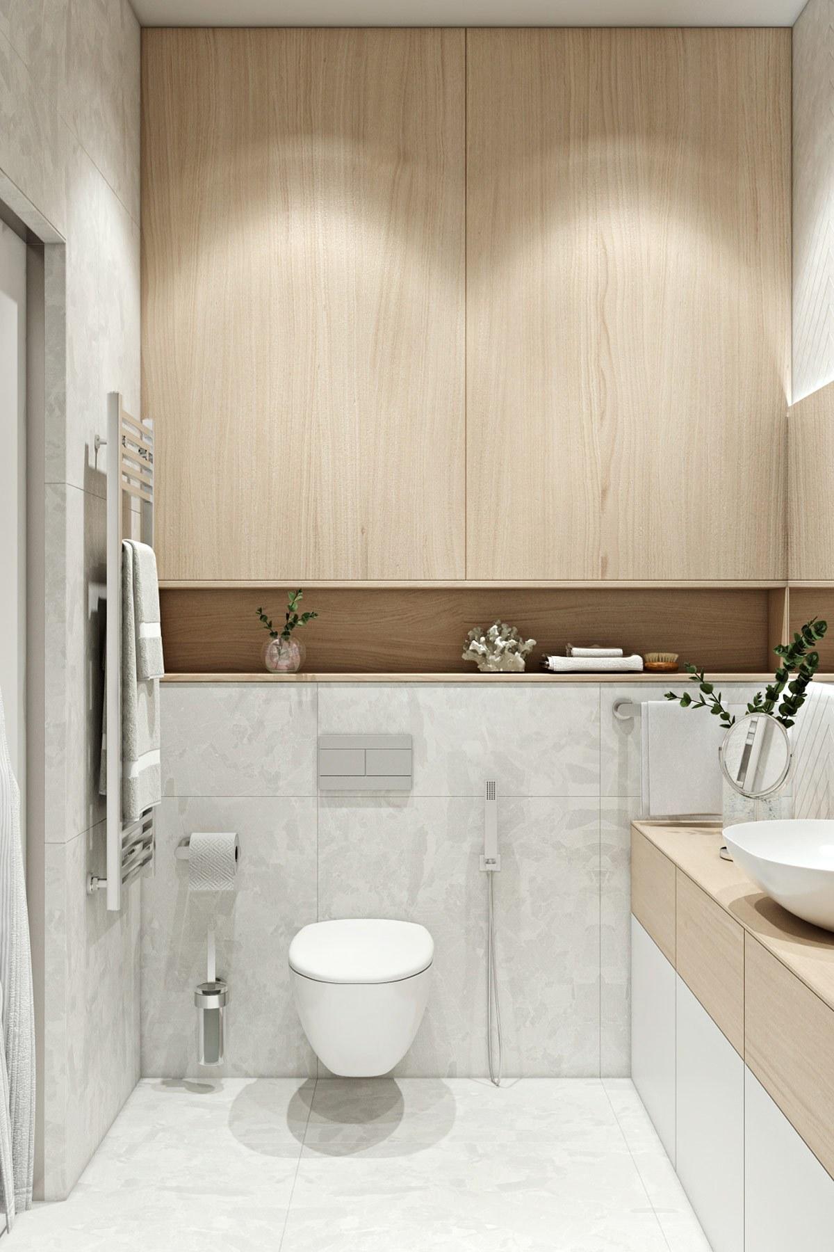 thiết kế nội thất phòng vệ sinh chung cư hiện đại