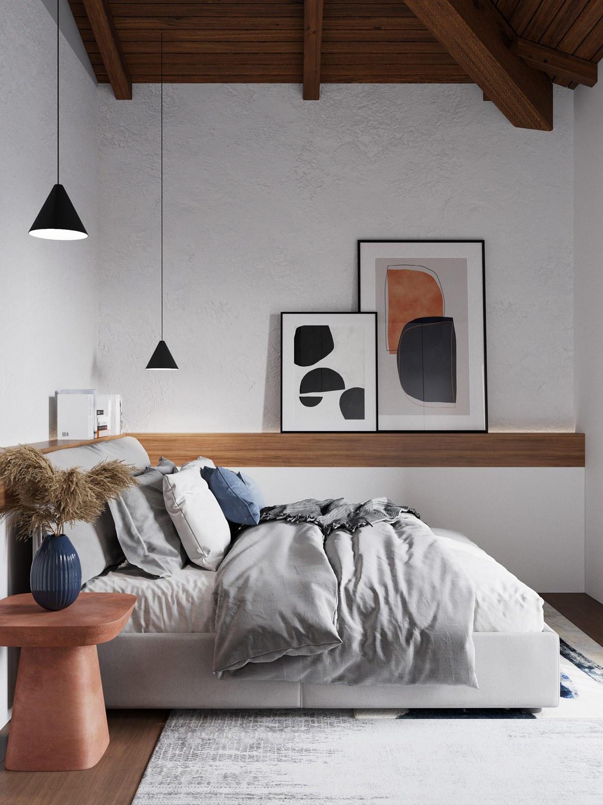 Thiết kế nội thất chung cư phòng ngủ phong cách tối giản