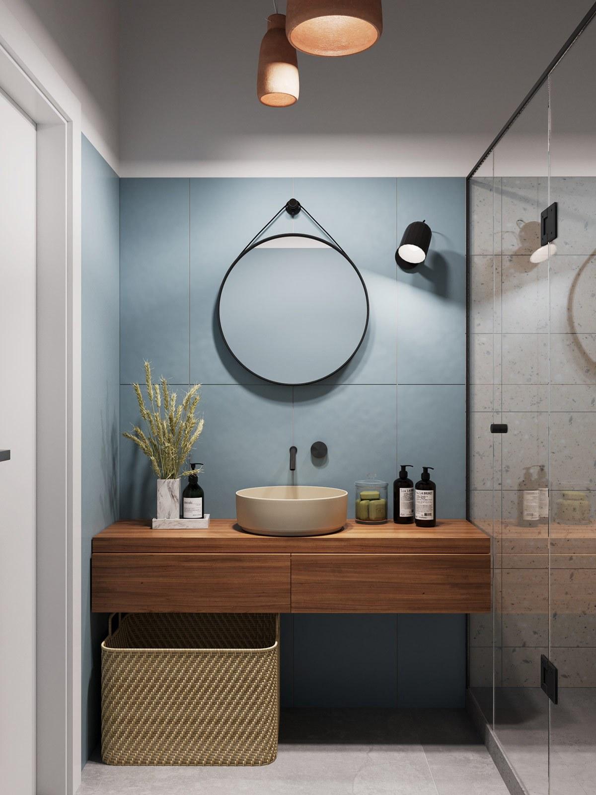 Thiết kế nội thất chung cư nhà vệ sinh phong cách tối giản