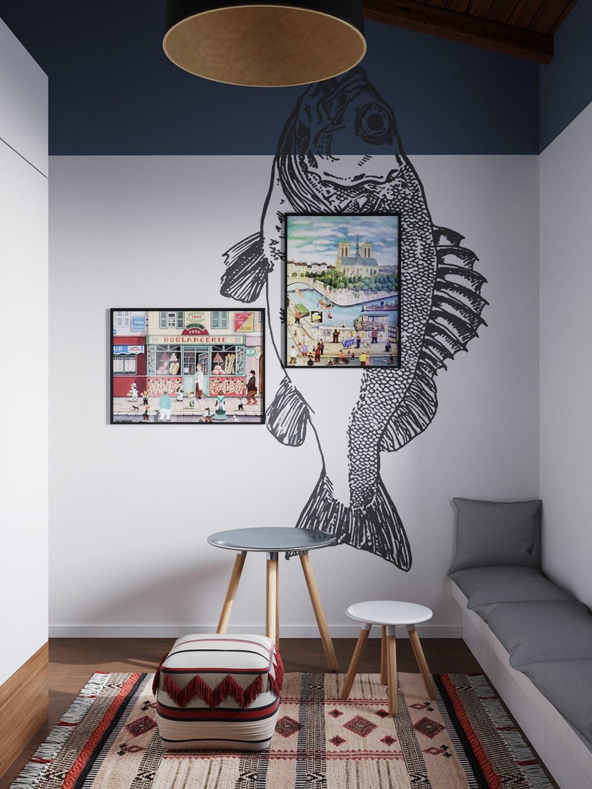 Thiết kế nội thất chung cư phòng ngủ trẻ phong cách tối giản