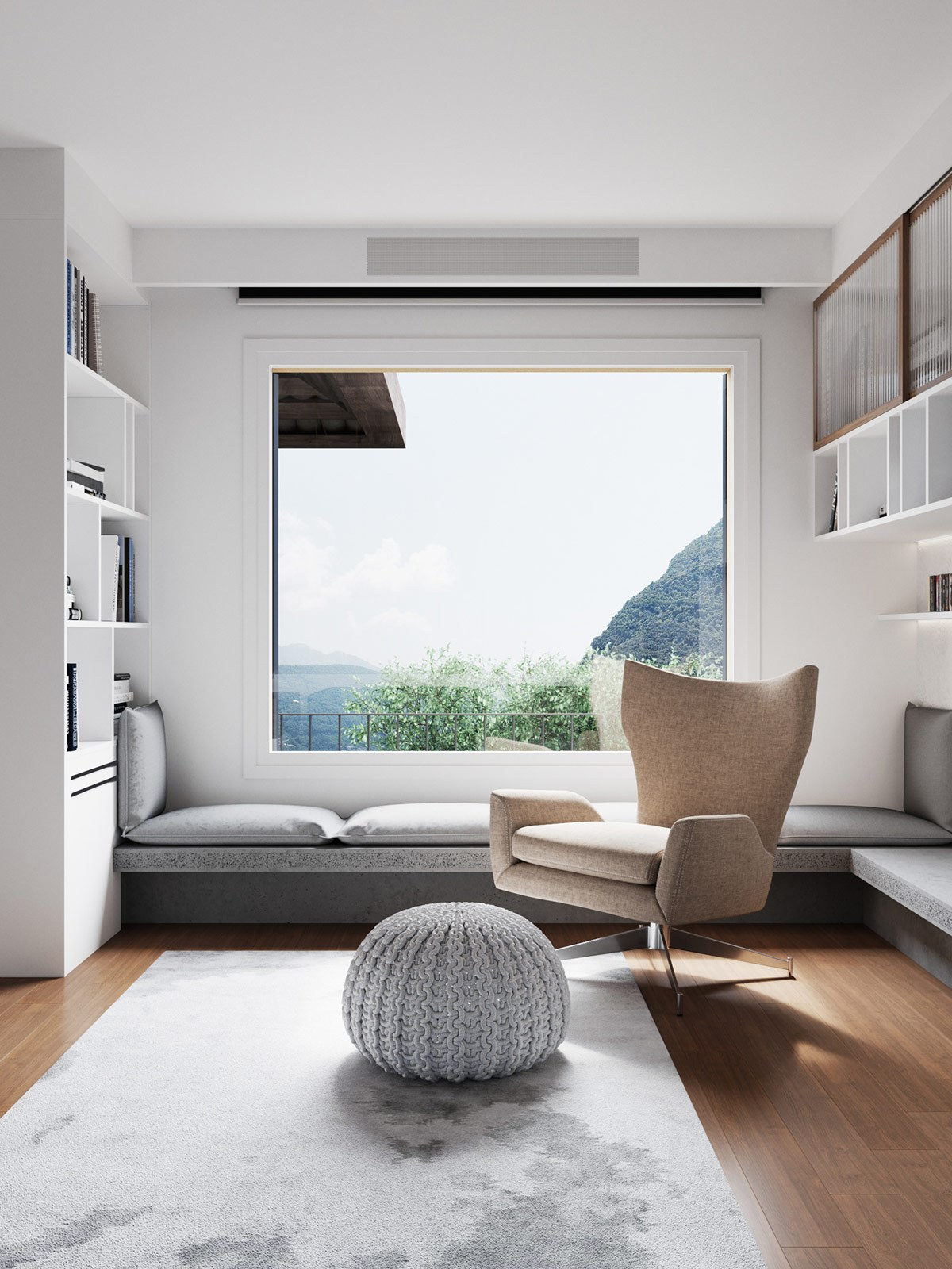 Thiết kế nội thất chung cư phòng khách phong cách tối giản