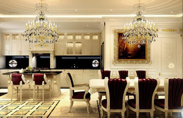 Sang trọng với thiết kế nội thất phòng bếp phong cách cổ điển