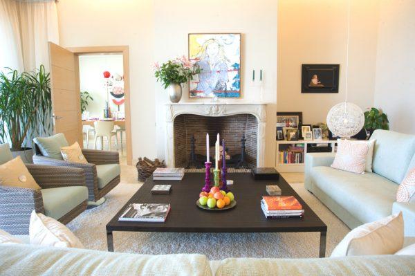 Thiết kế nội thất biệt thự phòng khách phong cách Tây Ban Nha